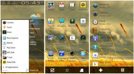 Start menu for Android