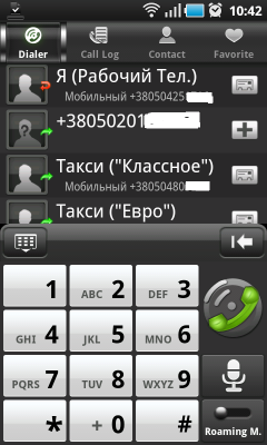 TouchPal Contacts - красивый диалер